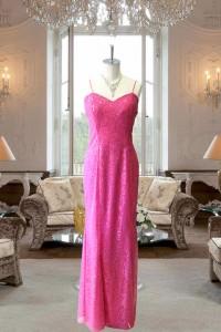 ピンクグリッタースレンダードレス