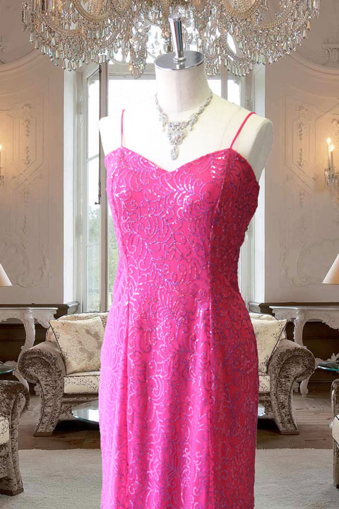 ラメグリッタードレス