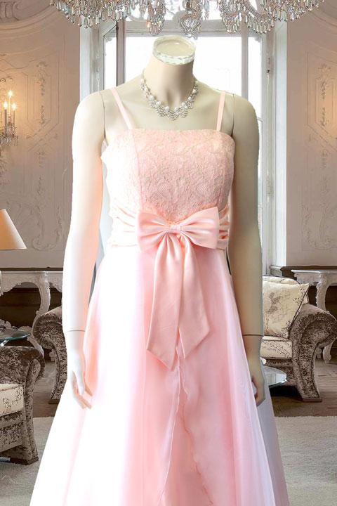 サーモンピンクAラインドレス