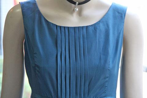 20a5ce6cfc9c0 ブルーグリーンタフタシンプルなドレス – Dress Bellhouse