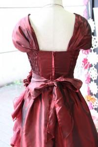 エンジタフタフリル豪華なステージドレス