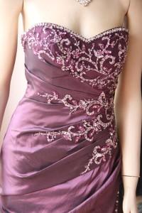 パープル刺繍付ゴージャスステージドレス