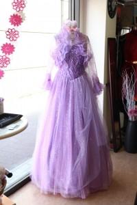 No.17339 パープルビーズ刺繍ゴージャスステージドレス