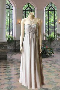 No.10030 グレーシフォン胸元ビジュー刺繍のステージドレス