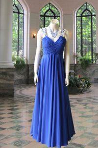No.10052 紺肩ビーズステージドレス
